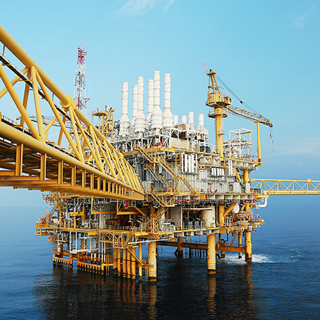 An Oil Rig in the UAE